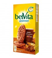 Печенье песочное Юбилейное BelVita Утреннее какао 225 г