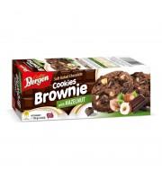 Печенье песочное Bergen Брауни с кусочками шоколада и лесным орехом 126 г