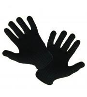 Перчатки трикотажные утепленные двойные, цв. черный