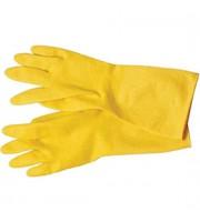 Перчатки резиновые особо прочные с хлопковым напылением S