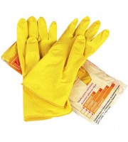 Перчатки латексные с напылением, S