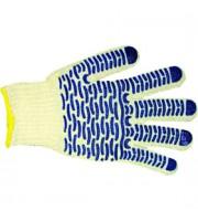 Перчатки хлопчато-бумажные с ПВХ заливка Волна