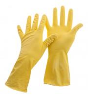 Перчатки резиновые хозяйственные OfficeClean Универсальные, р.XL, желтые, пакет с европодвесом