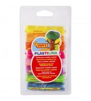 Пластилин JOVI, 08 цветов, 120г, растительный, флуоресцентный, блистер