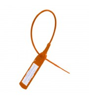 Пломба пластиковая универсальная номерная Авангард 220 мм оранжевая (100 штук в упаковке)