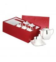 Сервиз чайный фарфоровый Korall Снежная Королева на 6 персон 13 предметов