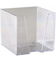 Подставка для бумажного блока 90х90х90мм, без листов, прозрачный