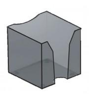 Подставка для бумажного блока 90х90х90мм, без листов, тонированный