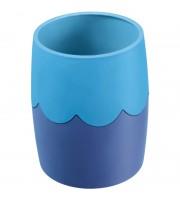 Подставка-стакан Стамм, пластик, круглый, двухцветный синий