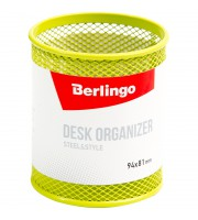 "Подставка-стакан Berlingo ""Steel&Style"", металлическая, круглая, зеленая"