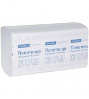 Полотенца бумажные лист. OfficeClean Professional(V-сл), 2-слойные, 200л/пач, 21*21,6, тисн,белые