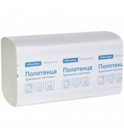 Полотенца бумажные лист. OfficeClean Professional(V-сл) (H3) 1 сл., 250л/пач, 21*21,6, цвет натур.20шт