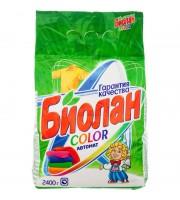 Порошок стиральный автомат Биолан Color для цветного белья 2.4 кг