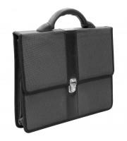 """Портфель OfficeSpace """"Sanremo"""" ткань, серый, 2 отделения, метал. замок"""