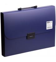 Папка-портфель 13 отделений OfficeSpace, A4, 330*235*40мм, 700мкм, синий