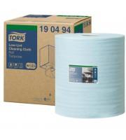 Нетканый материал повышенной прочности для уборки Tork W1 безворсовый (голубой, 180 метров в рулоне)