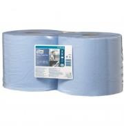 Протирочная бумага в рулонах Tork W1/W2 2-слойная (голубая, 2 рулона по 255 метров)
