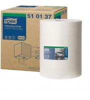 Нетканый материал повышенной прочности для уборки Tork W1/W2/W3 (белый, 152 метра в рулоне)