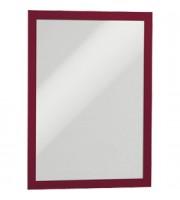 Рамка A4 DURABLE Duraframe 4872-03, самоклеящаяся, магнитная, красный, 2шт