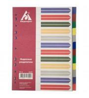 Разделитель листов А4, пластиковый цветной, 12 разделов