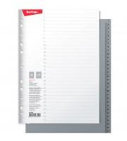 Разделитель листов Berlingo А4, 31 лист, цифровой 1-31, серый, пластиковый