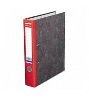 Папка-регистратор А4 ERICH KRAUSE, снаружи и изнутри картон, 50мм, мрамор, корешок красный