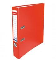 Папка-регистратор А4 ERICH KRAUSE, снаружи полипропилен, изнутри бумага, 50мм, металлич. окантовка, красный