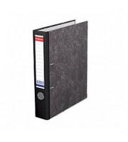 Папка-регистратор А4 ERICH KRAUSE, снаружи и изнутри картон, 50мм, мрамор, корешок черный