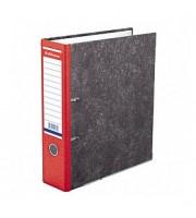 Папка-регистратор А4 ERICH KRAUSE, снаружи и изнутри картон, 70мм, мрамор, корешок красный