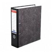 Папка-регистратор А4 ERICH KRAUSE, снаружи и изнутри картон, 70мм, мрамор, корешок черный