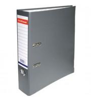 Папка-регистратор А4 ERICH KRAUSE, снаружи полипропилен, изнутри бумага, 70мм, металлич. окантовка, серый