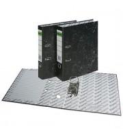 Папка-регистратор А4, снаружи и изнутри картон, 80мм, мрамор