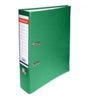 Папка-регистратор А4 ERICH KRAUSE, снаружи полипропилен, изнутри бумага, 70мм, металлич. окантовка, зеленый