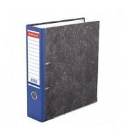 Папка-регистратор А4 ERICH KRAUSE, снаружи и изнутри картон, 70мм, мрамор, корешок синий