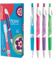 Ручка шариковая автоматическая ERICH KRAUSE Fiore, с резин. держателем, синий