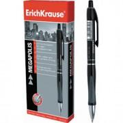 Ручка шариковая автоматическая ERICH KRAUSE Megapolis Concept, с резин. держателем, черный