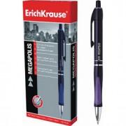 Ручка шариковая автоматическая ERICH KRAUSE Megapolis Concept, с резин. держателем, синий