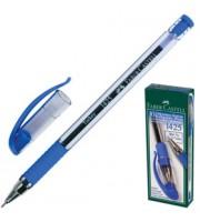 Ручка шариковая FABER-CASTELL 1425, с резин. держателем, синий