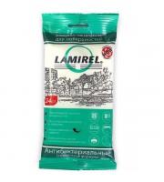 Салфетки для чистки пластика LAMIREL, влажные, антибактериальные, 24шт., мягкая упаковка