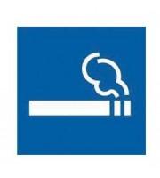 Этикетки самоклеящиеся 114х114мм, APLI, Место для курения