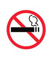 Этикетки самоклеящиеся 114х114мм, APLI, Не курить