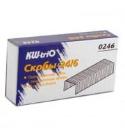 Скобы для степлера №24/6 KW-TRIO, 1000шт.