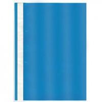 Папка-скоросшиватель, прозрач. верх, голубой