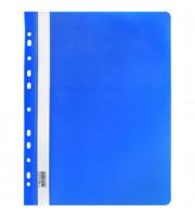 Папка-скоросшиватель пластиковый, с перфорацией, синий