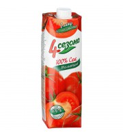 Сок 4 Сезона томатный с мякотью 1 л