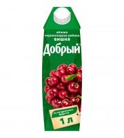 Сок Добрый яблоко/вишня/черноплодная рябина 1 л