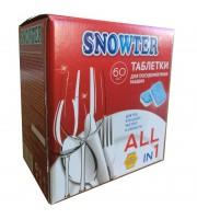 Таблетки для посудомоечных машин Snowter (60 штук в упаковке)