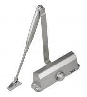 Доводчик на дверь DORMA TS 77 EN4,с рыч.тягой,до 80кг,серебро(76060101)