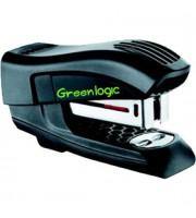 Степлер 24/6 15л., MAPED-Mini Greenlogic Haif Strip, пластик, вертикальный, черный
