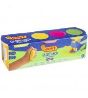 Тесто для лепки JOVI, 03 цвета*110г, неоновые цвета, картон